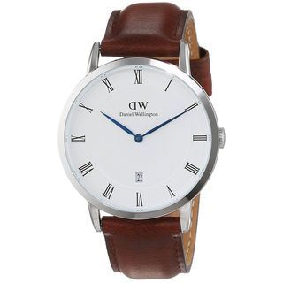 Daniel Wellington Unisex 1120DW 'Dapper St. Mawes' Brown Leather Watch