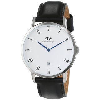 Daniel Wellington Unisex 1121DW 'Dapper Sheffield' Black Leather Watch
