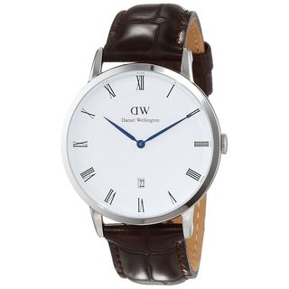 Daniel Wellington Unisex 1122DW 'Dapper York' Brown Leather Watch