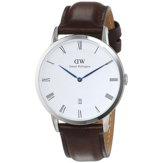 Daniel Wellington Unisex 1123DW 'Dapper Bristol' Brown Leather Watch
