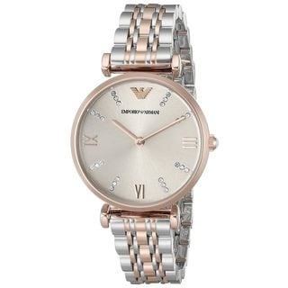 Emporio Armani Women's AR1840 'Classic' Crystal Two-Tone Stainless Steel Watch