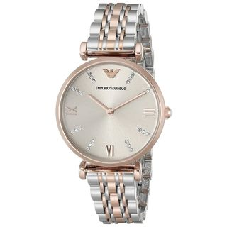 Emporio Armani Women's 'Classic' Crystal Two-Tone Stainless Steel Watch