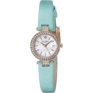 Kate Spade Women's 1YRU0758 'Tiny Metro' Crystal Blue Leather Watch