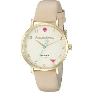 Kate Spade Women's 1YRU0484 'Metro' Beige Leather Watch|https://ak1.ostkcdn.com/images/products/10792882/P17840132.jpg?impolicy=medium