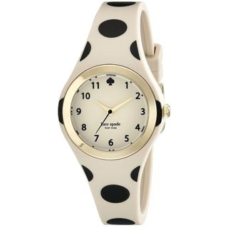 Kate Spade Women's 1YRU0611 'Rumsey' Beige Silicone Watch
