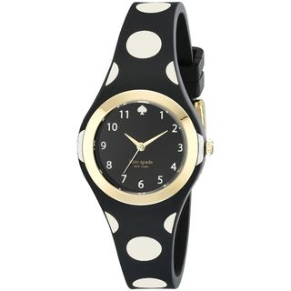Kate Spade Women's 1YRU0610 'Rumsey' Black Silicone Watch