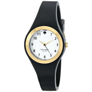 Kate Spade Women's 1YRU0642 'Rumsey' Black Silicone Watch