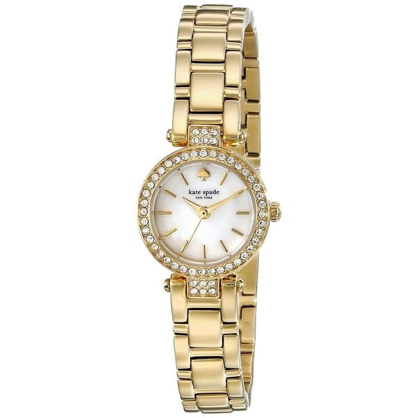 Shop Kate Spade Women s 1YRU0723  Gramercy Mini  Crystal Gold-Tone  Stainless Steel Watch - Free Shipping Today - Overstock - 10792892 19141e2d15