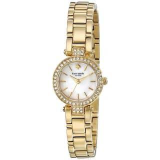 Kate Spade Women's 1YRU0723 'Gramercy Mini' Crystal Gold-Tone Stainless Steel Watch|https://ak1.ostkcdn.com/images/products/10792892/P17840141.jpg?impolicy=medium