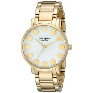 Kate Spade Women's 1YRU0737 'Gramercy' Gold-Tone Stainless Steel Watch