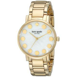 Kate Spade Women's 1YRU0737 'Gramercy' Gold-Tone Stainless Steel Watch