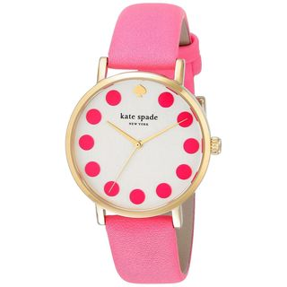 Kate Spade Women's 1YRU0770 'Bazooka' Pink Leather Watch