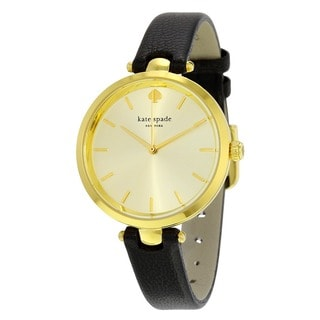 Kate Spade Women's 1YRU0811 'Holland' Black Leather Watch