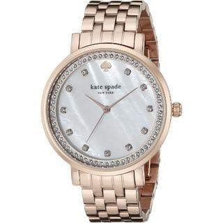 Kate Spade Women's 1YRU0822 'Monterey' Crystal Rose-Tone Stainless Steel Watch