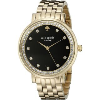 Kate Spade Women's 1YRU0824 'Monterey' Crystal Gold-Tone Stainless Steel Watch