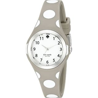 Kate Spade Women's 1YRU0836 'Rumsey' Beige Silicone Watch