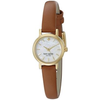 Kate Spade Women's 1YRU0867 'Tiny Gramercy' Brown Leather Watch