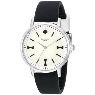 Kate Spade Women's 1YRU0868 'Crosby' Black Silicone Watch