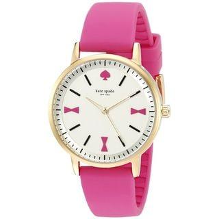 Kate Spade Women's 1YRU0870 'Crosby' Pink Silicone Watch