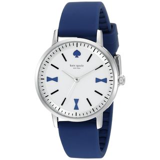 Kate Spade Women's 1YRU0873 'Crosby' Blue Silicone Watch