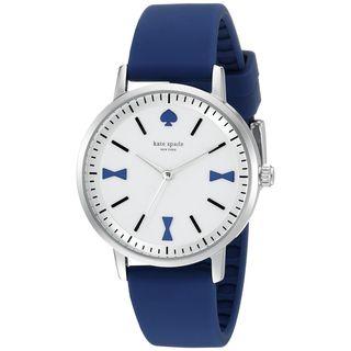 Kate Spade Women's 1YRU0873 'Crosby' Blue Silicone Watch