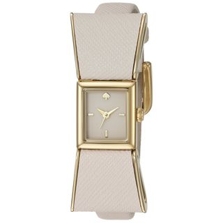 Kate Spade Women's 1YRU0898 'Kenmare' White Leather Watch