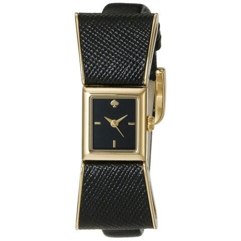 Kate Spade Women's 1YRU0899 'Kenmare' Black Leather Watch