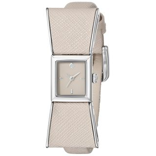 Kate Spade Women's 1YRU0926 'Kenmare' Beige Leather Watch
