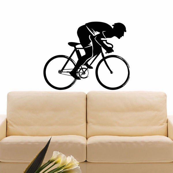 Cycling Bicycle Sport Vinyl Wall Art Decal Sticker