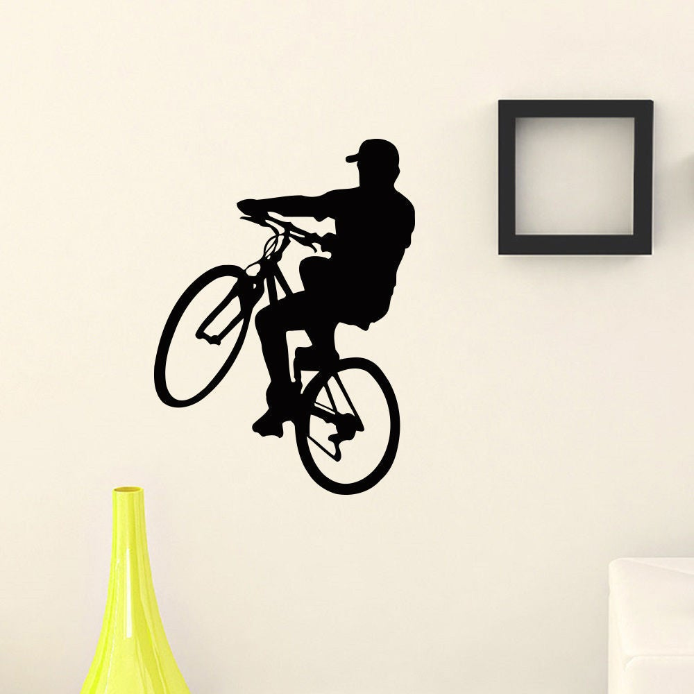 BMX Bike Sport Vinyl Wall Art Decal Sticker (35 inches x ...