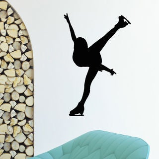 Figure Skating Sport Vinyl Wall Art Decal Sticker