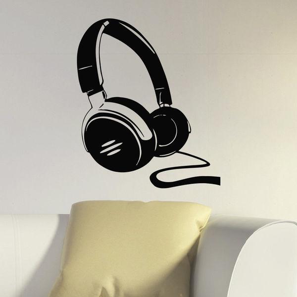Shop Dj Headphones Music Inspirational Vinyl Wall Art Decal Sticker