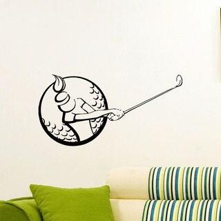 Golf Girl Vinyl Wall Art Decal Sticker