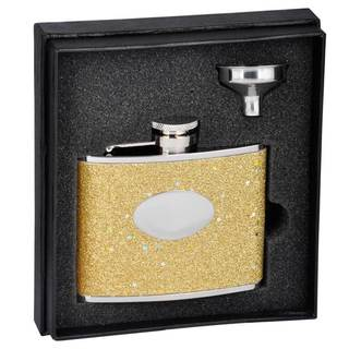 Visol Supernova Gold Glitter Essential III Flask Gift Set - 4 ounces