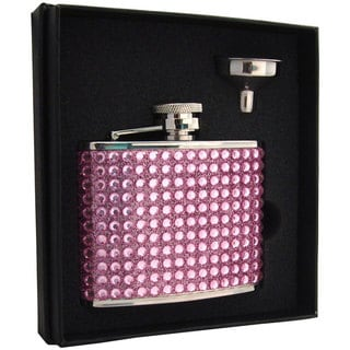 Visol Kylie Pink Bling Essential III Flask Gift Set - 4 ounces