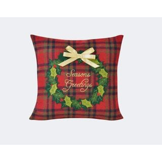 Season's Greetings 16-inch Throw Pillow