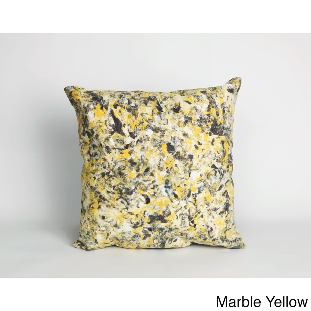 Shop Marble 18-inch Throw Pillow - Overstock - 10793068