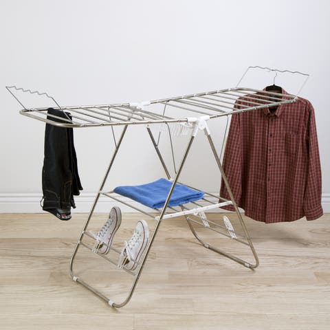 Heavy Duty Stainless Steel Laundry Drying Rack by Everyday Home - 23.25 x 60 x 42