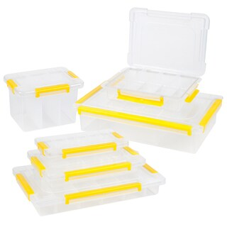 Stalwart Parts and Crafts Storage Organizers 6 Tool Box Set