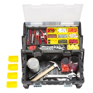 Stalwart Parts & Crafts Tiered Storage Tool Box - 22 Inch