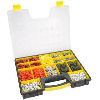 Stalwart Parts And Crafts Portable Storage Organizer 4 Box Set