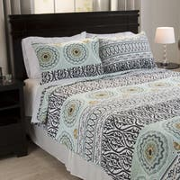 Windsor Home Murial Cotton 3-piece Quilt Set
