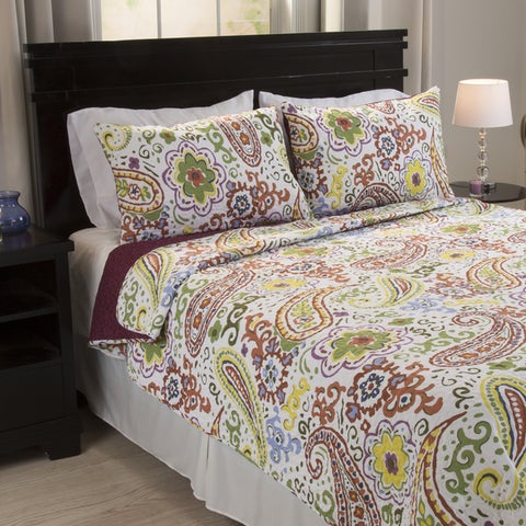 Windsor Home Theresa Cotton 3-piece Quilt Set