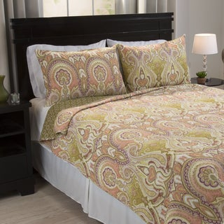 Windsor Home Avary Cotton 3-piece Quilt Set