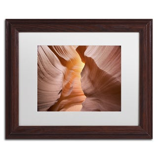 Moises Levy 'Welcome III' White Matte, Wood Framed Canvas Wall Art