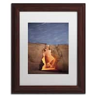 Moises Levy 'Flame' White Matte, Wood Framed Canvas Wall Art