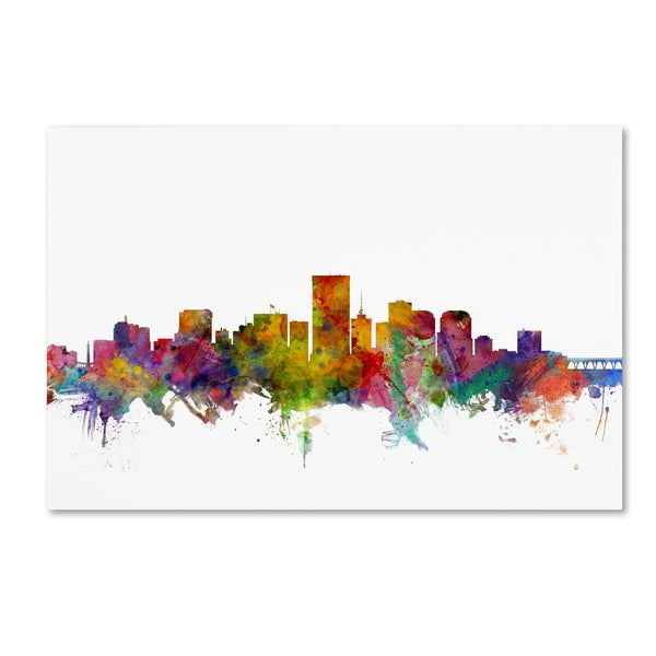 Shop Michael Tompsett  Richmond Virginia Skyline  Canvas Wall Art ... bce439cf2