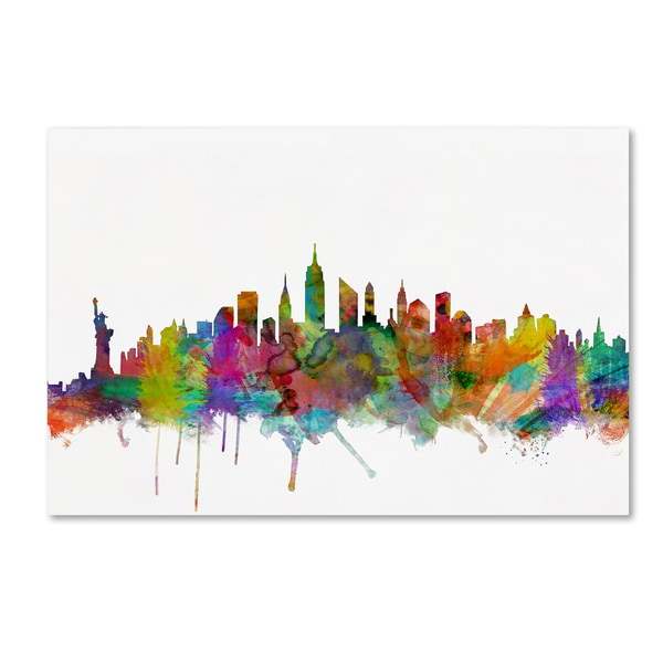 Michael Tompsett U0026#x27;New York City Skylineu0026#x27; Canvas Wall Art