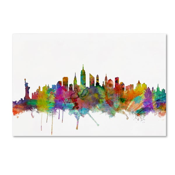Michael Tompsett 'New York City Skyline' Canvas Wall Art