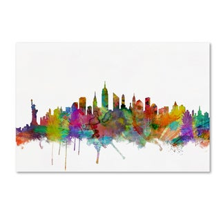 Michael Tompsett 'New York City Skyline' Canvas Wall Art
